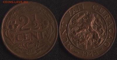 Голл.Кюрасао 2.5 цента 1948 до 22:00мск 09.09.17 - Голл.Кюрасао 2.5 цента 1948 =125