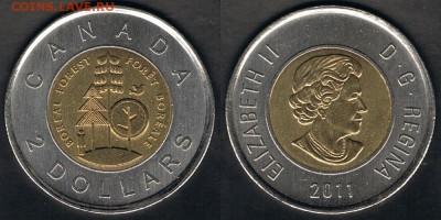 """Канада 2$ 2011 """"Бореальные леса"""" до 09.09.17 в 22:00 - Canada_KM#1167_03092017"""
