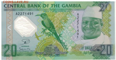 Гамбия 20 даласи 2014 Юбилей полим. 11.09 в 22.00мск (Е260) - 1-1гам20юб1