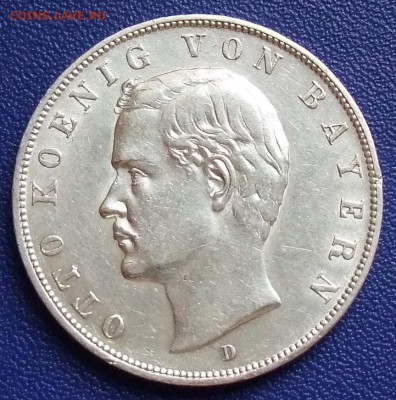 Бавария. 3 марки 1909. До 15.09.17 в 21:30. - Bayern-3-1909.JPG