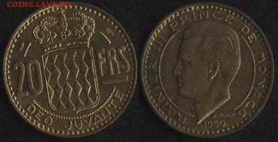 Монако 4 монеты до 22:00мск 15.09.17 - Монако 20 франков 1950