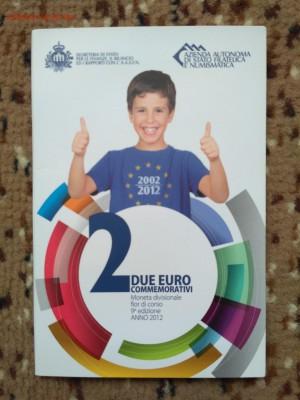 Юбилейные 2 евро 2012 10 лет обращению UNC до 15.09 22:00 - 2012-5 обращ