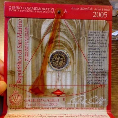 САН-МАРИНО - 2 евро ГАЛИЛЕЙ буклет до 22.09, 22.00 - Сан-Марино 2 евро Галилей буклет_2