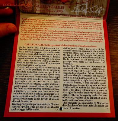 САН-МАРИНО - 2 евро ГАЛИЛЕЙ буклет до 22.09, 22.00 - Сан-Марино 2 евро Галилей буклет_3