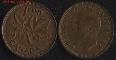 Канада 1 цент 1948 до 22:00мск 22.09.17 - Канада 1 цент 1948
