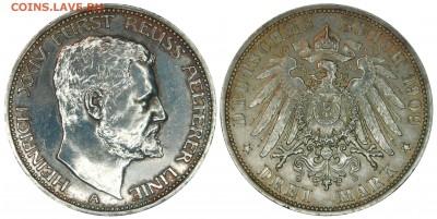 Коллекционные монеты форумчан , Кайзеррейх 1871-1918 (2,3,5) - 3 mark 1909 Altere line.JPG