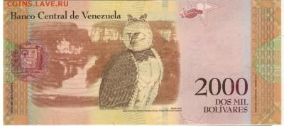 Венесуэла 2000 боливаров 2016 до 25.09.17 в 22.00мск (Е282) - 1-1вен2000б2016
