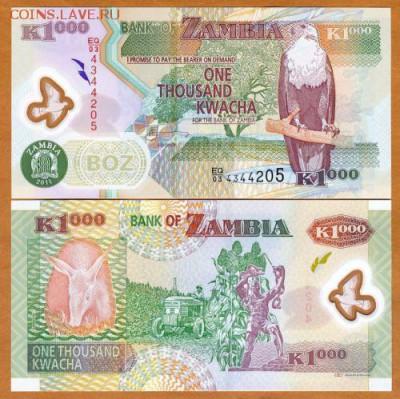 Замбия 1000 квача 2009 полимерная 25.09.17 в 22.00мск (Д835) - 1-1зам1000