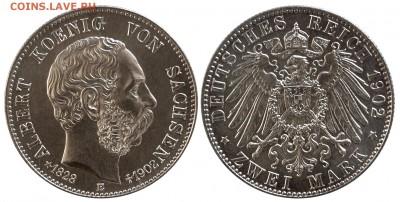 Коллекционные монеты форумчан , Кайзеррейх 1871-1918 (2,3,5) - 2 mark 1902 Sachsen Albert..JPG