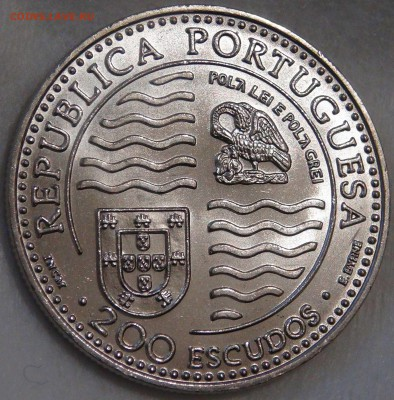 200 эскудо Португалии 1995 г., Принц Иоан II 1495 - 1995 гг. - DSC03014.JPG