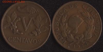 шт. №1 ФИКС! - Колумбия 5 сентаво 1944 -65