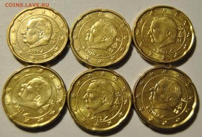 20 евро центов 2009-2012 Бельгия 6шт до 08.11.2017 в 22:15 - DSC_1713.JPG