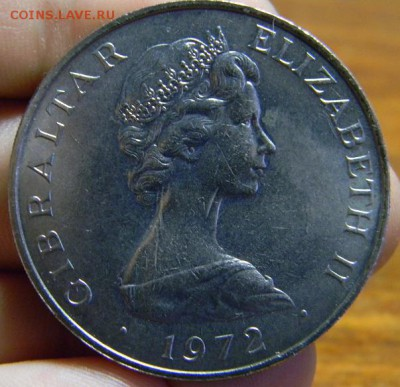 25 пенсов Гибралтар 1972 - DSCN1785.JPG