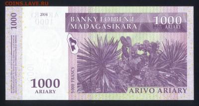 Мадагаскар 1000 ариари 2004 unc 21.11.17  22:00 мск - 1