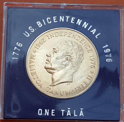 Крона Шайба Самоа и Сисифо 1 тала 1976 200 лет независимости - s-l1600 (1)