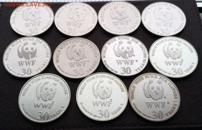 Жеоны 30 лет Фонду Дикой Природы WWF крона шайба 11 шт. - oJHnPz0Y9Tg