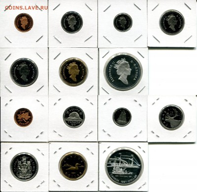 Канада СЕМЬ наборов 1976-1991 + Бонус до 02.12.17 22-00 мск - Canada 1991 set.