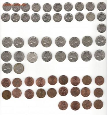 Ходячка США по списку. ФИКС цены. - 1, 5, 10 центов США, A