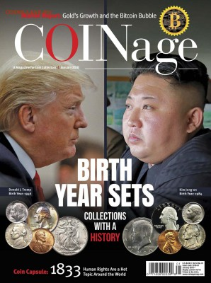 журнал  COINage - январь 2018 - монеты