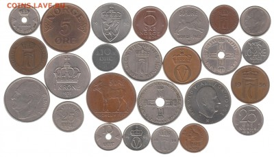 монеты Норвегии 25 шт. до 28.12 в 22.00 - IMG