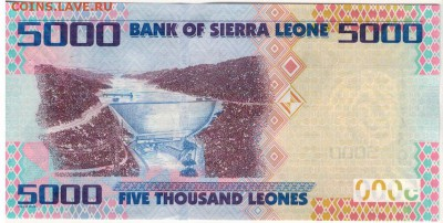 Сьерра-Леоне 5000 леоне 2010 до 01.01.2018 в 22.00мск (Е273) - 1-1сьл5000