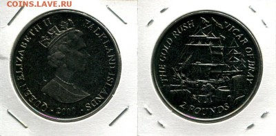 Фолкленды 2 фунта 2000 парусник Викарий до 30.12.17 22-00 - Falkland 2P 2000 VofB