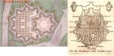 Нотгельды. - Карта Мангейма 1680 г.