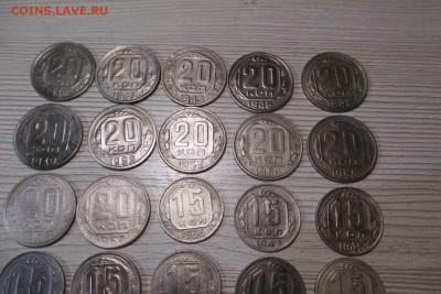 34 никелевых монет 1936-1954 без повторов - 2