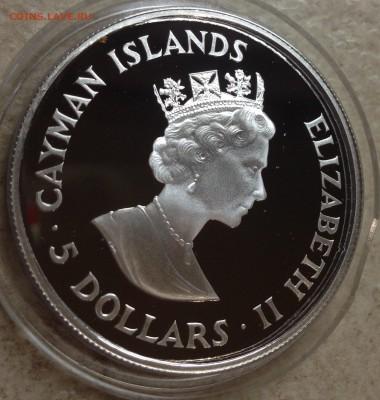 5 долларов Каймановы острова 1987 Пруф, Попугай - ппFullSizeRender (14)