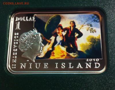 1 доллар Ниуэ, 2010г., Франциско Гойя , Ag925, до 06.02.18г. - f4