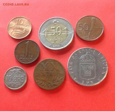 7 монет Европы (1952-2009г.) , до 06.02.18г. - европа