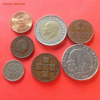 7 монет Европы (1952-2009г.) , до 06.02.18г. - европа-1