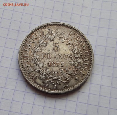 Франция 5 франков 1873 до 06.02 22:00 - 20180202_193648