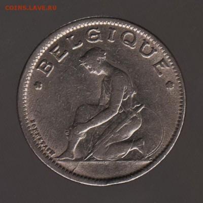 Бельгия 1 франк 1934г - РАСКОЛ ШТЕМПЕЛЯ -, до 15.02.18 - 015в