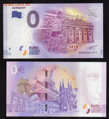 Каталог банкнот 0 евро - 0_nol_evro_2018_g_futbol_germanija_unc