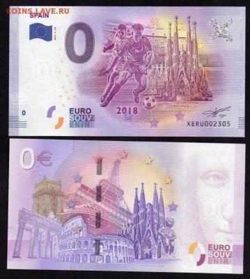 Каталог банкнот 0 евро - 0_nol_evro_2018_g_futbol_ispanija_unc