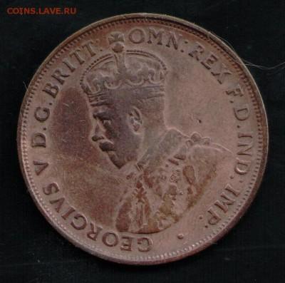 АВСТРАЛИЯ 1 ПЕННИ 1921 - 14 001