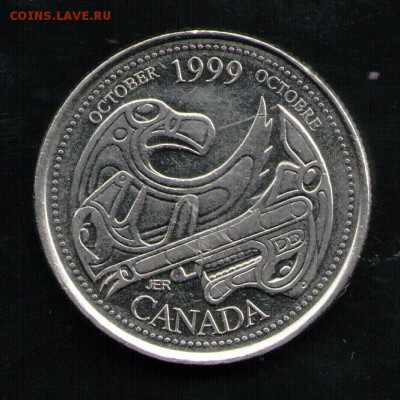 КАНАДА 25 ЦЕНТОВ 1999 - 6 001