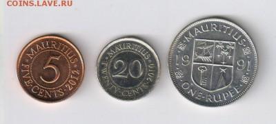МАВРИКИЙ - 5 и 20 центов, 1 рупия до 21.02.2018г 21-00 - МАВРИКИЙ - 3 шт01