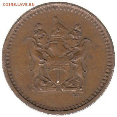 Родезия 1 цент 1976 до 23.02 в 22.00 - ш
