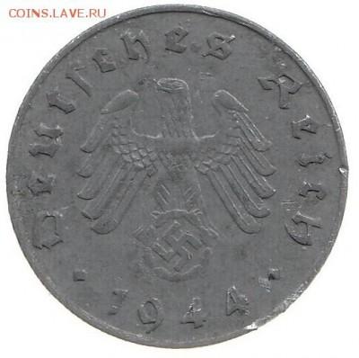 Германия 10 пфеннигов 1944 а до 23.02 в 22.00 - ин4