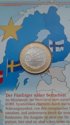 Биметалл Австрия 50 шиллингов 1999 Европейский валютный сою - bimetall_avstrija_50_shillingov_1999_evropejskij_valjutnyj_sojuz_buklet (1)