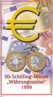 Биметалл Австрия 50 шиллингов 1999 Европейский валютный сою - bimetall_avstrija_50_shillingov_1999_evropejskij_valjutnyj_sojuz_buklet