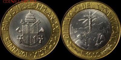 биметалл Ватикан 1000 лир 1999 UNC - bimetall_vatikan_1000_lir_1999_unc