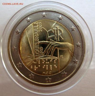 Цена - ПОДАРОК! Юбилейка 2 евро,юбилейка РФ 5 р.,медали. - Италия 2009, 250 р.JPG