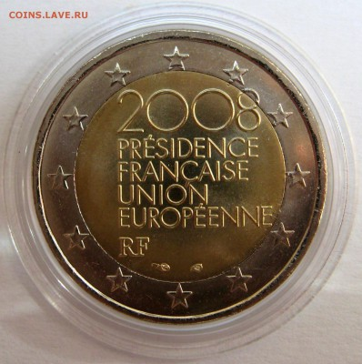 Цена - ПОДАРОК! Юбилейка 2 евро,юбилейка РФ 5 р.,медали. - Франция 2008 ,230 р.JPG