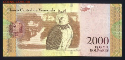 Венесуэла 2000 боливаров 2016 unc 17.03.18 22:00 мск - 1