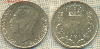 Люксембург 5 франков 1986 г., до23.03.2018 г. 22.00 по Моск - Люксембург 5 франков 1986  377