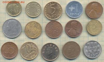 Иностранные монеты разные, фикс по 5 руб - 5 3а
