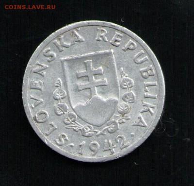 СЛОВАКИЯ 20 ГЕЛЕРОВ 1942 - 2 001